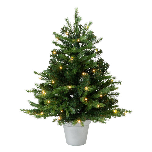 XMAS LED TREE Green 80 CM with pot