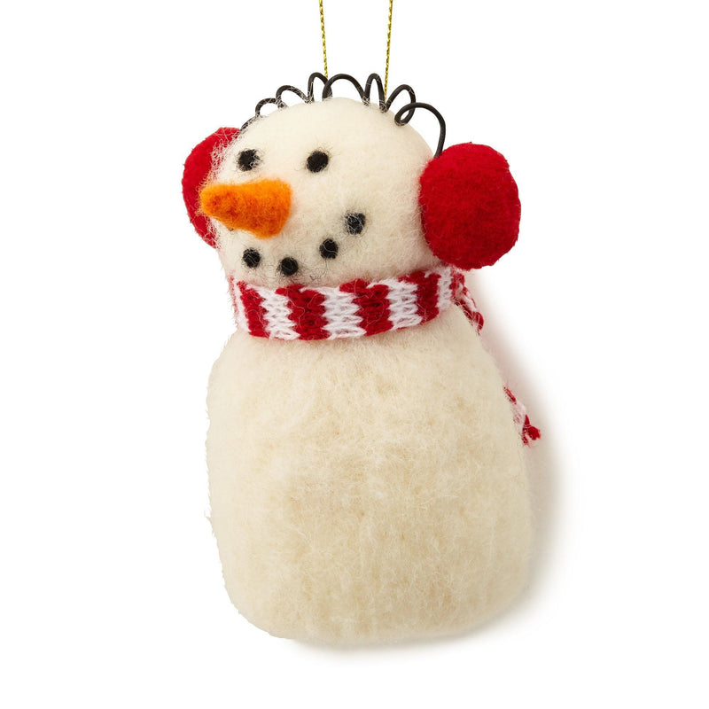 FABRIC ORNAMENT SNOWMAN