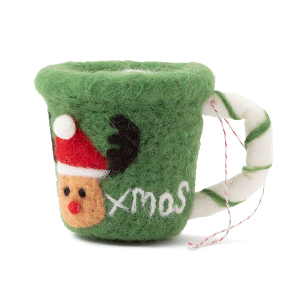FABRIC ORNAMENT MUG Green