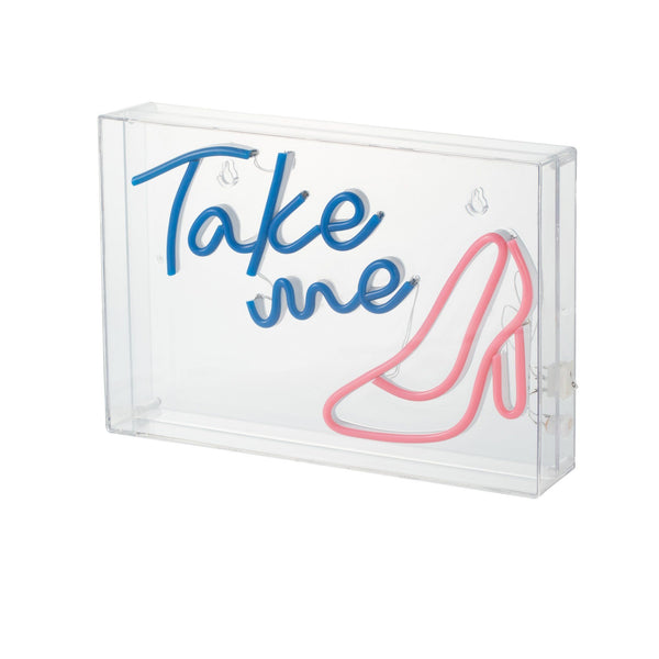 ACRYLIC NEON OBJECT TAKE ME