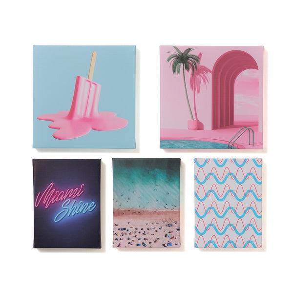 ART BOARD SET OF 5 MIAMI