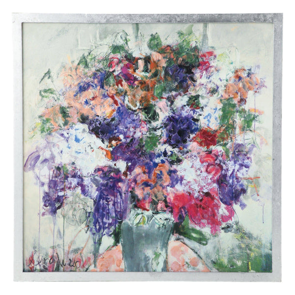 SANDY WELCH ARTBOARD FLORA PURPLE