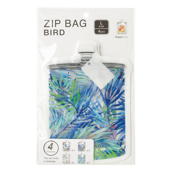 ZIP BAG Large 4P BIRD Blue