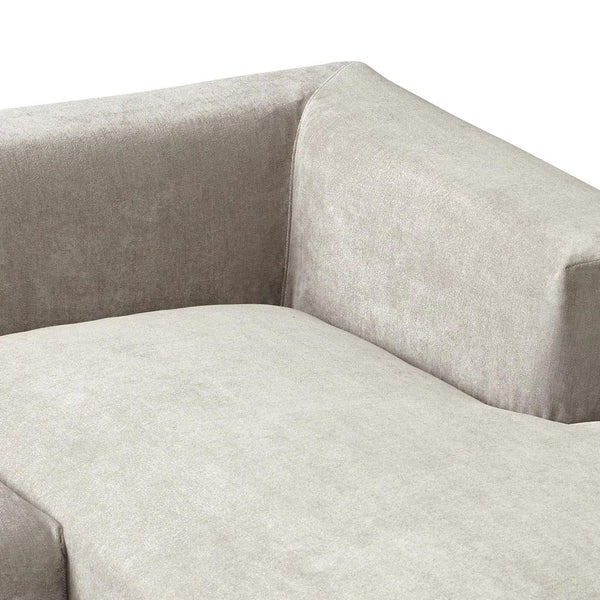 MEHNE SOFA ARM LEFT GRAY