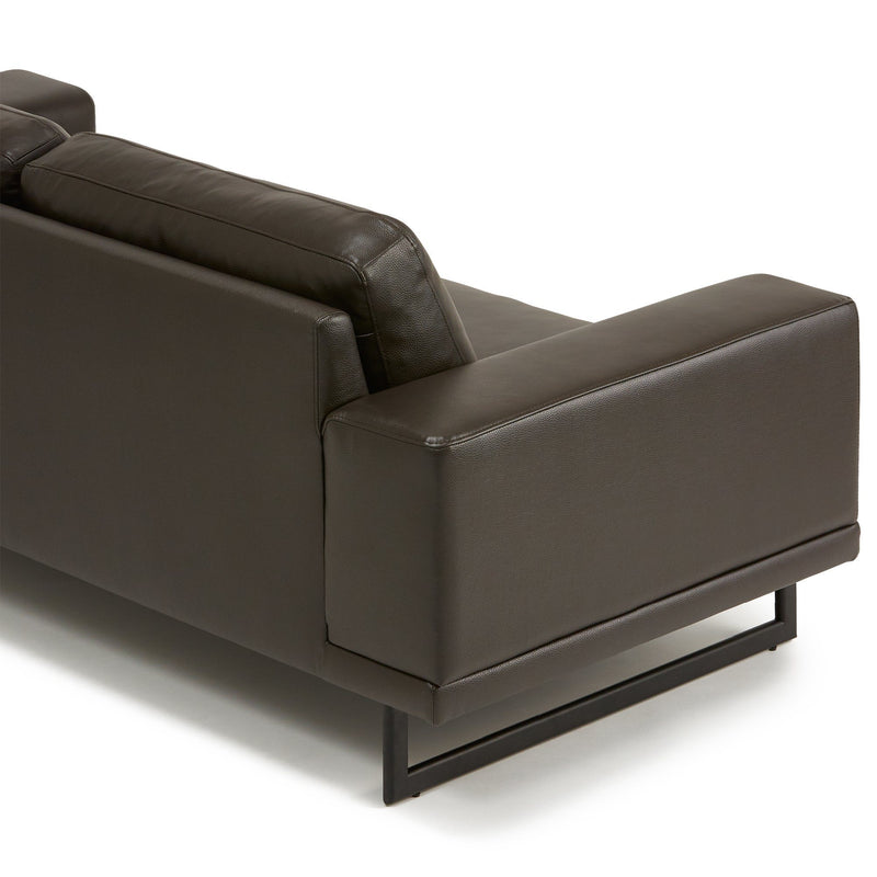 BOSCO Leather Sofa Dark Brown (W1980 × D910 × H750)