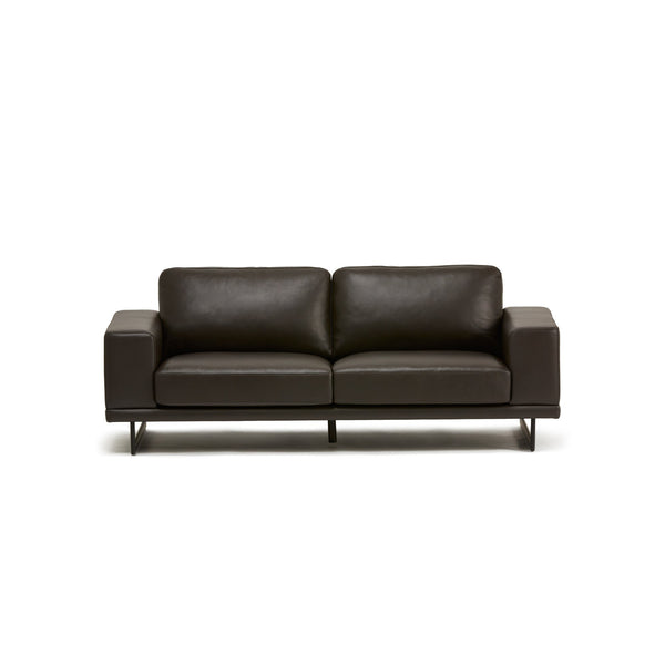 BOSCO LEATHER SOFA DBR - AVAILABLE FOR PRE ORDER