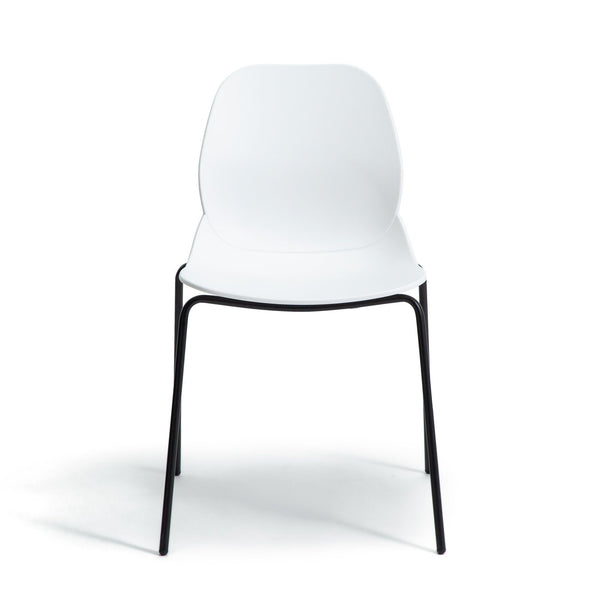 LEALE Chair WHITE (W525 x D520 x H800)
