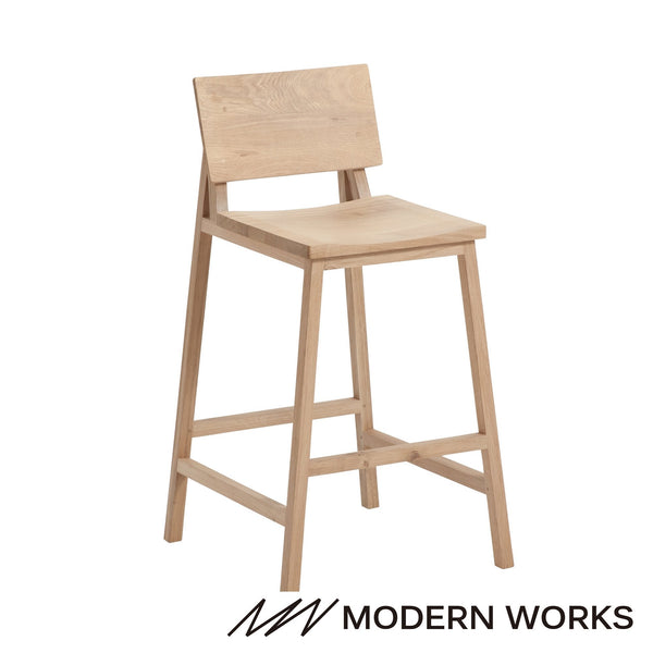 Oak N3 counter stool Natural