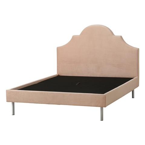 Brissa Bed crown Double Pink (A) (W1485 x D2085 x H1025mm)
