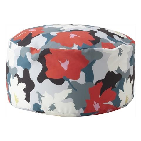 REPOSER BEADS OTTOMAN COVER AND NUDE FLOWER (A)