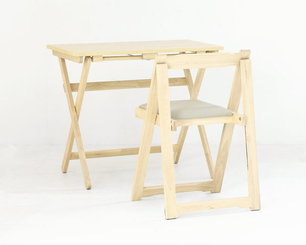DESK CHAIR SET NATURAL