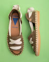 Abril Peep Toe Laced Flat - Tan