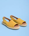 Aitana Suede Open Toe Slingback Sandals - Yellow