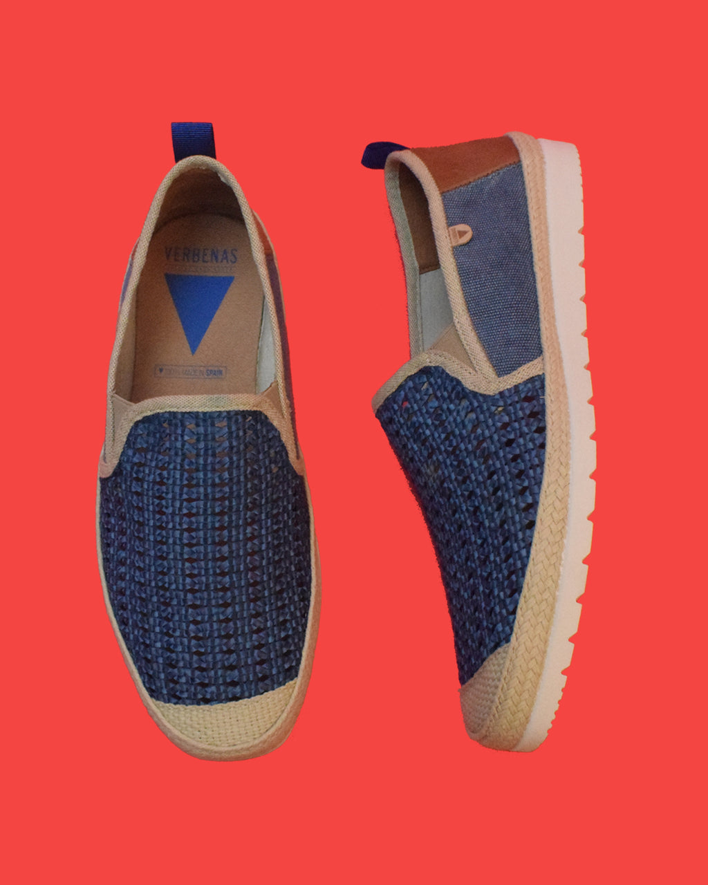 Blade Woven leather Slip On - Navy