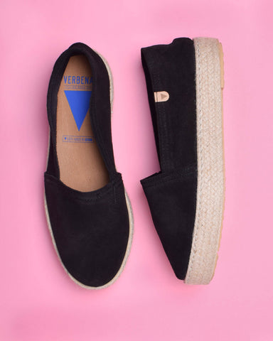 Sara Suede Wide Strap Slides - Blue