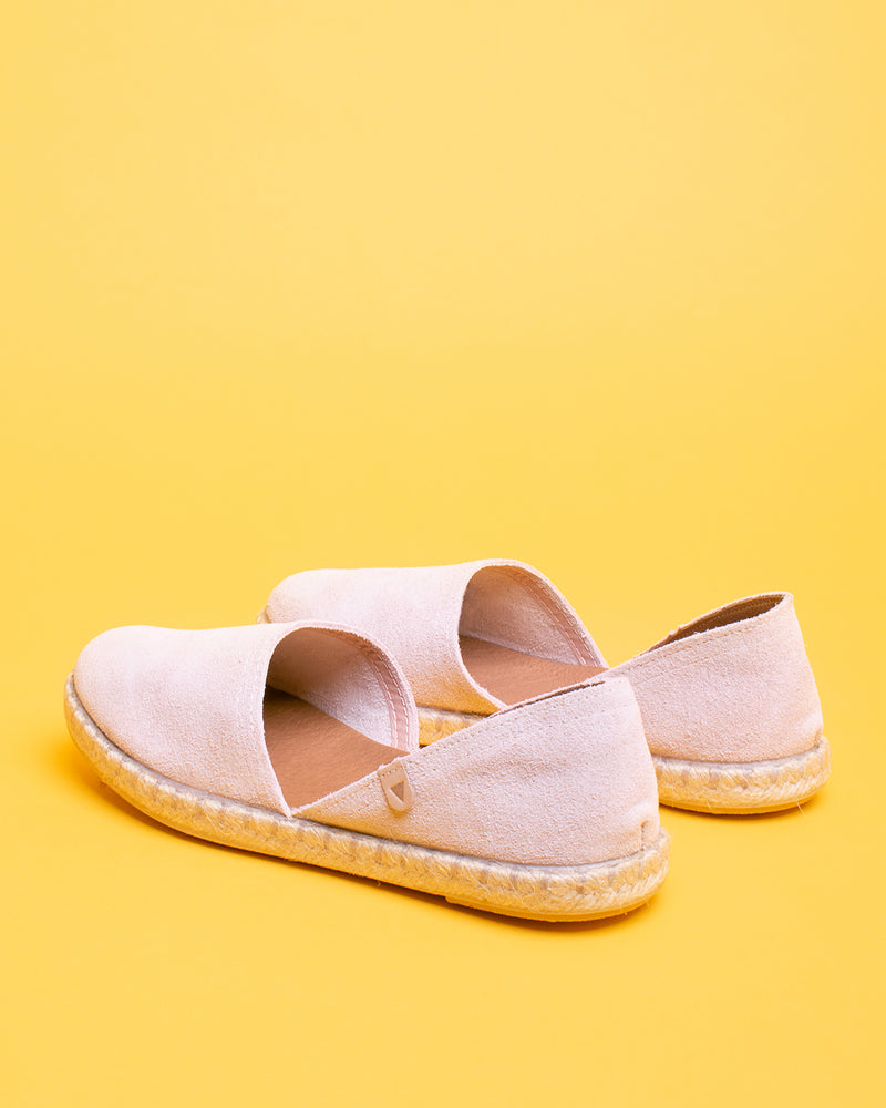 Carmen Suede Slip On Espadrille - Blush