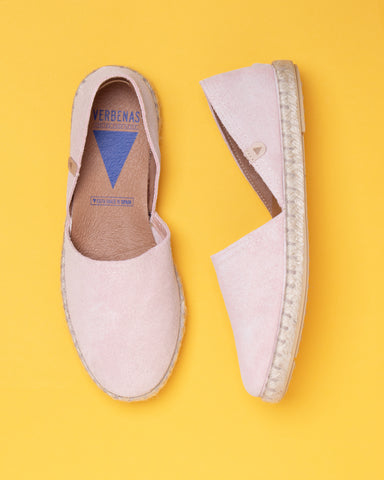 Carmen Suede Slip On Espadrille - Yellow
