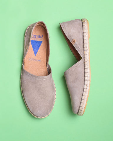 Carmen Suede Slip On Espadrille - Tan