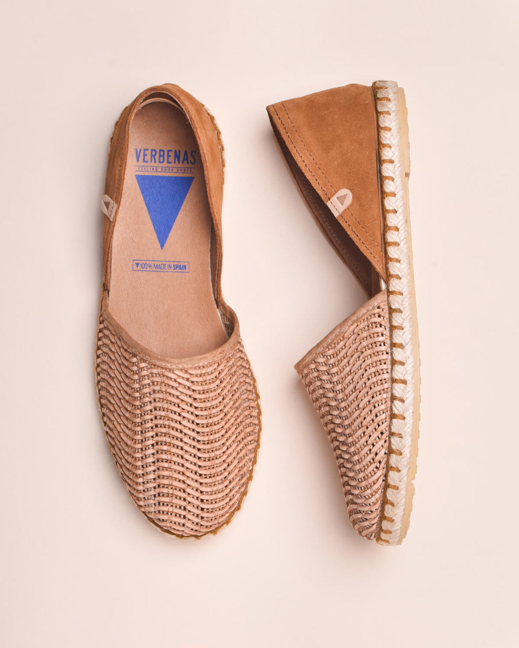 Carmen Woven leather Slip On - Espadrille - Tan