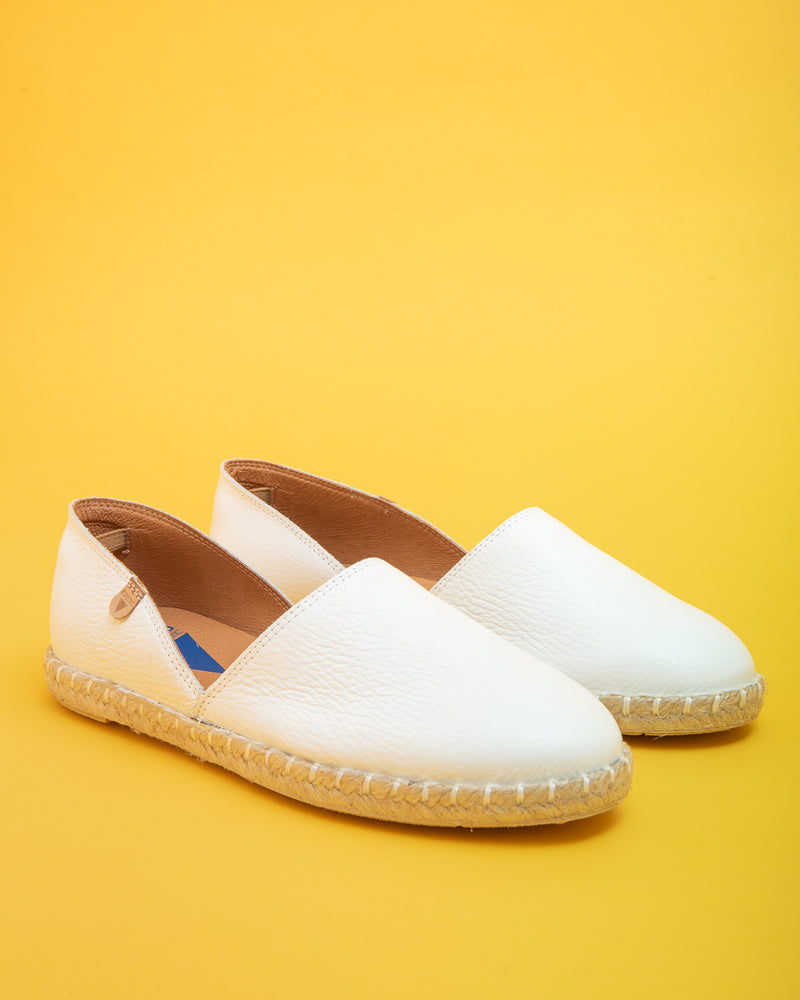 Carmen Nappa Leather Slip on - White