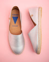 Carmen Metallic Leather Slip On - Rosegold