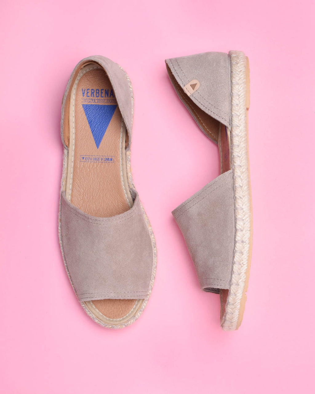 Carol Suede Open Toe d'Orsay Espadrilles - Taupe