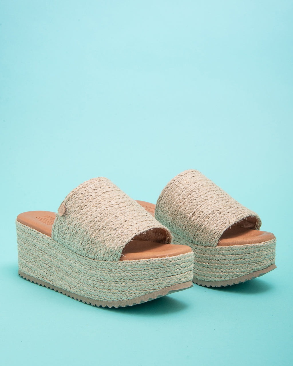 Olympia Jute Wedge Slide - Natural