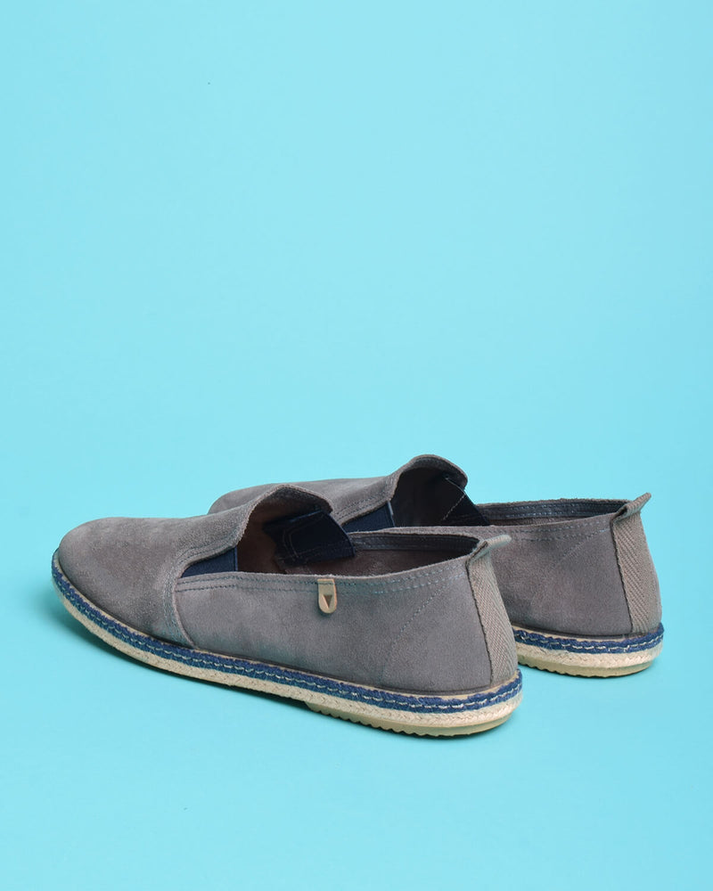 Tom Suede Loafers - Grey - Verbenas USA