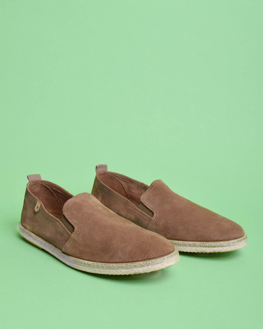 Tom Suede Loafers - Taupe - Verbenas USA