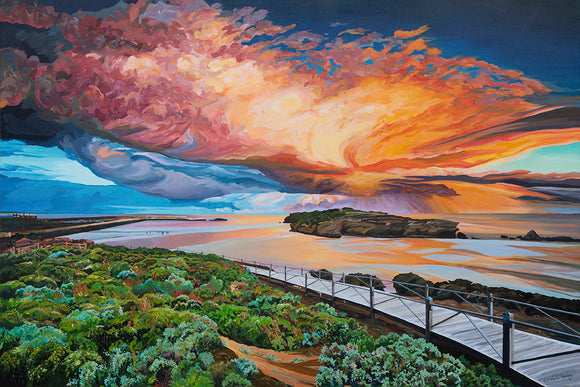 East Beach Port Fairy Summer Coastal Art Seaside Australia Australian Artist Acrylic painting fine art print seascape landscape