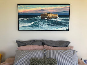 Commissioned painting of Bakers Oven Twelve 12 apostles shipwreck coast peterborough australia landscape seascape