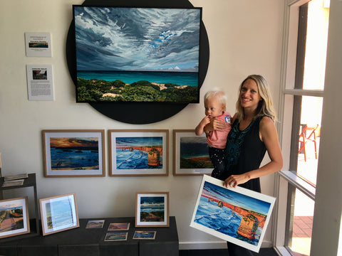 Warrnambool Art Gallery - Artist of the Month - Caroline and baby