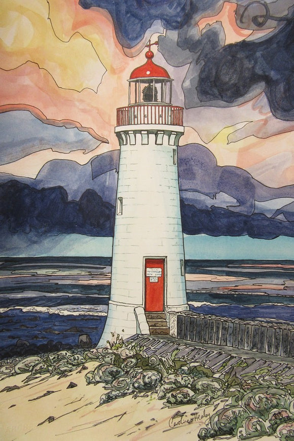 Port Fairy Lighthouse - Watercolour