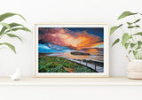 Middle Island Sunrise Fine Art Print, Australian Art, Warrnambool, Islands Beach, Seascape Landscape