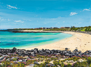 Pea Soup, Port Fairy, Victoria acrylic coastal painting by Caroline Healey
