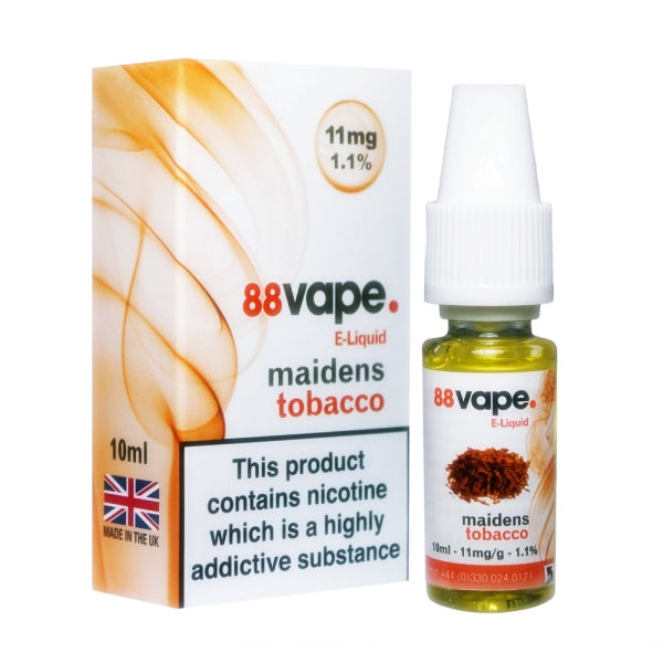 Maidens Tobacco E-Liquid by 88 Vape 10ml