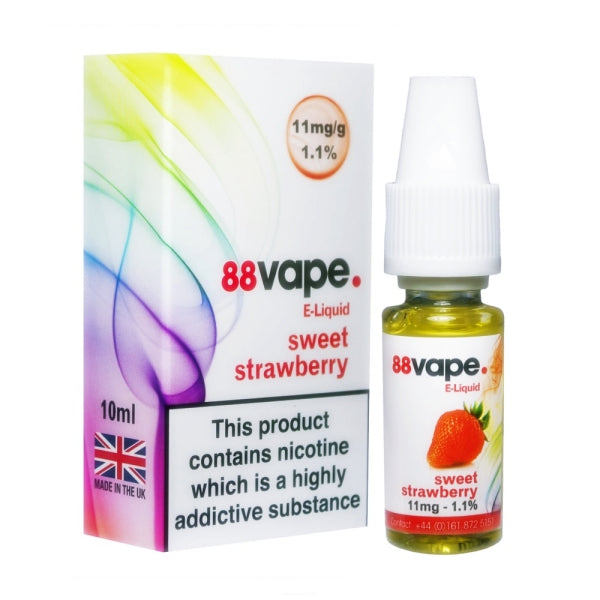 Sweet Strawberry E-Liquid by 88 Vape 10ml