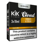 Cookies and Cream E-Liquid 30ml (3x 10ml) by KiK Cloud