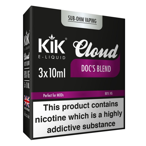 Doc's Blend E-Liquid 30ml (3x 10ml) by KiK Cloud