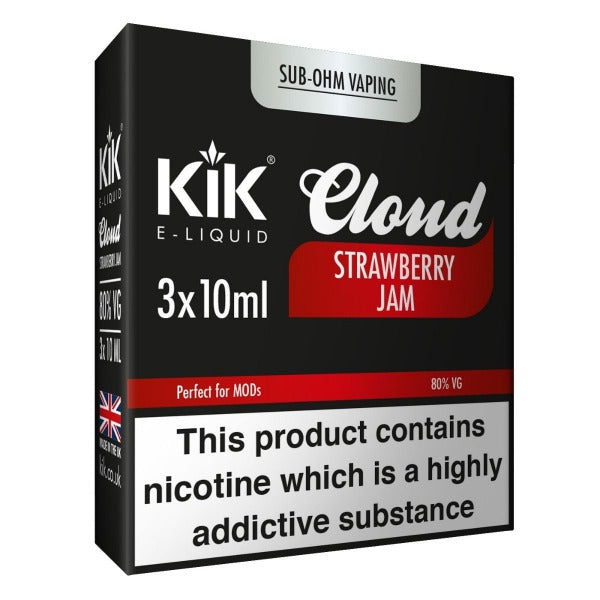 Strawberry Jam E-Liquid 30ml (3x 10ml) by KiK Cloud