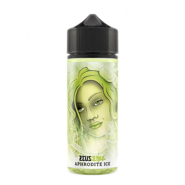 Aphrodite ICE 100ml 0mg E-Liquid by Zeus Juice - 120ml Shortfill Bottle + Nic Shots Opt