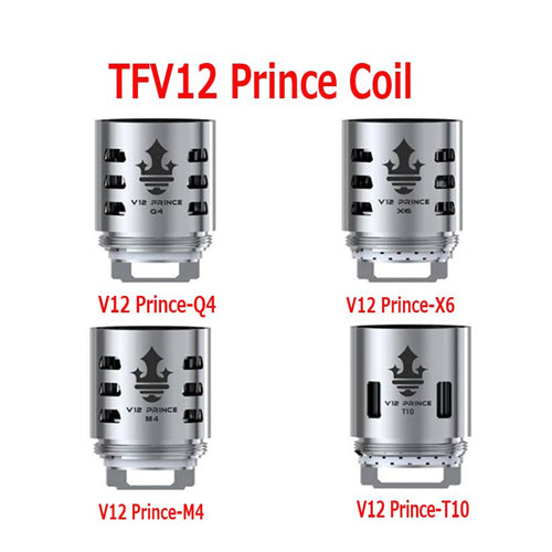 SMOK TFV12 PRINCE Replacement Coils Atomizers - Q4 | M4 | X6 | T10 | RBA - x3