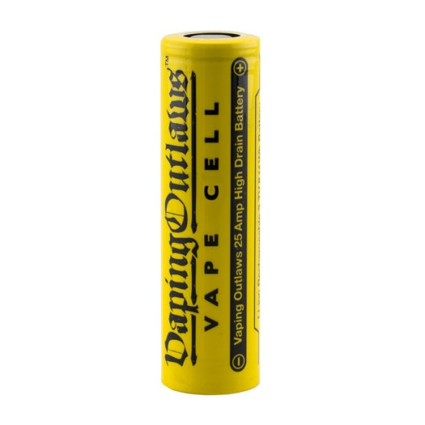 Vaping Outlaws 18650 2500mAh 25A High Drain Flat Top Battery