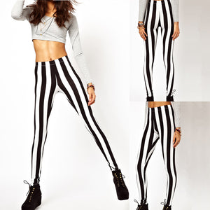Black White Vertical Stripe Zebra