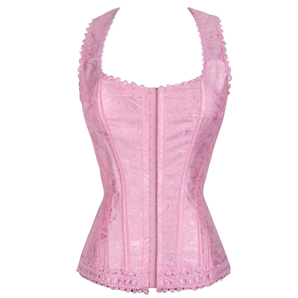 Laced Sexy Underbust Corse Waist Training Printed Body Cincher