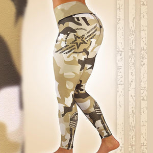 Captain America Military Gold Leggings