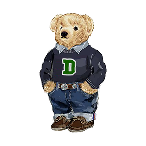 Dartmouth Generic Polo Bear - Sticker