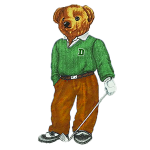 Dartmouth Golf Bear - Sticker