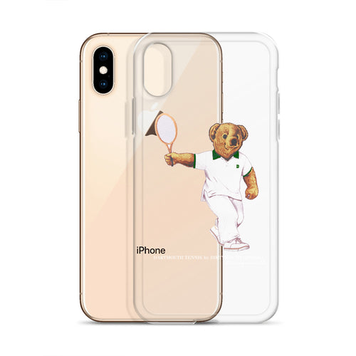 Dartmouth Tennis Polo Bear - iPhone Case (6, 7, 8, X, XS, XR, (Plus))