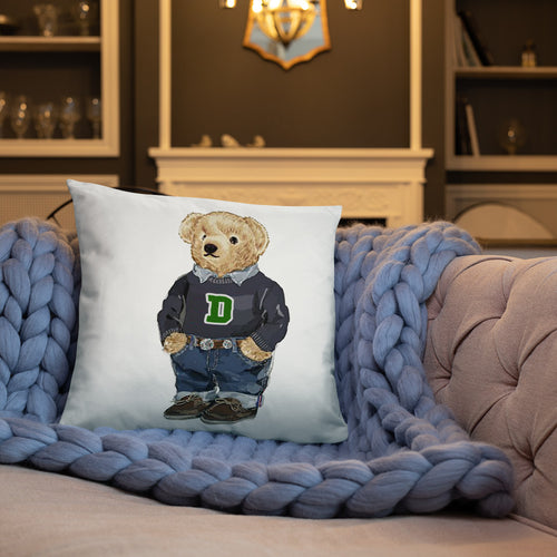 Dartmouth Generic Bear - Throw Pillow